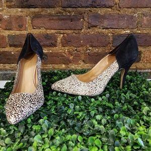 Madewell calf hair heels 10